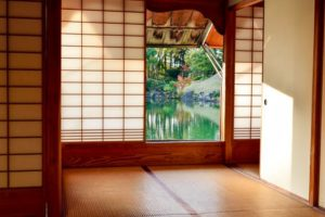 Tatami meditation room